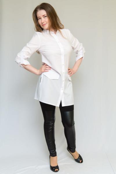 Удлиненная блуза-рубашка
